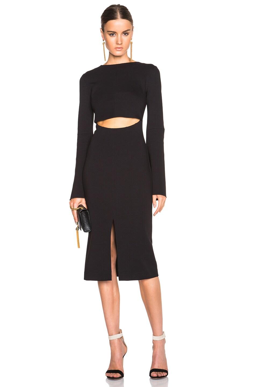 Image 1 of NICHOLAS Bell Sleeve Dress in Black