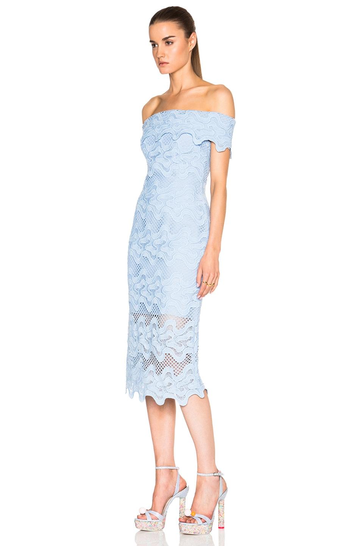Image 2 of NICHOLAS Off Shoulder Dress in Cashmere
