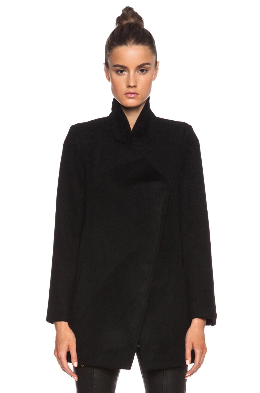 NICHOLAS Felted Wool Coat in Black | FWRD