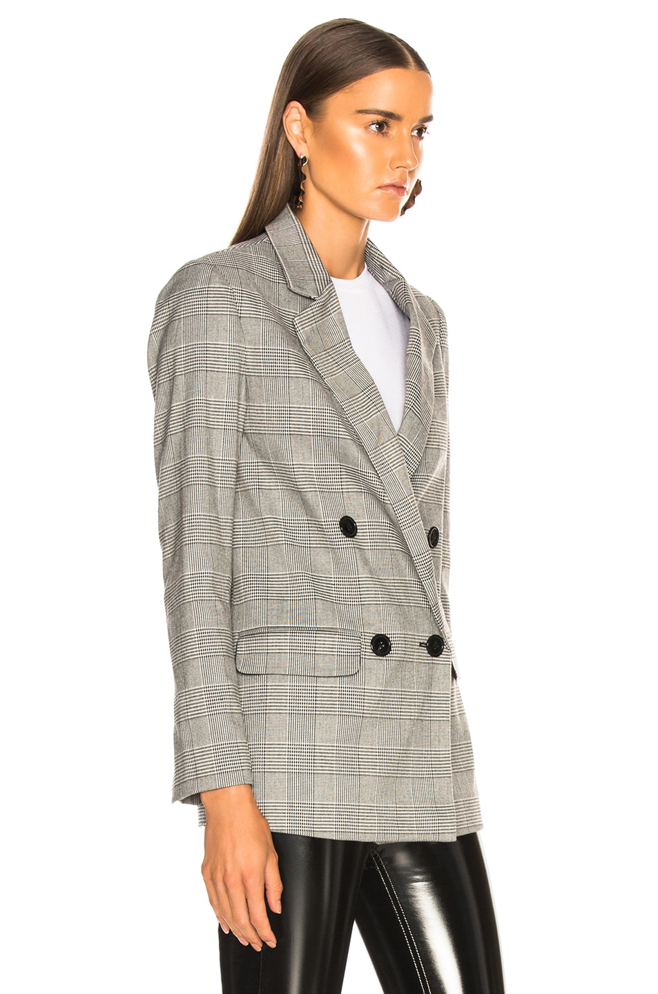 Image 4 of NICHOLAS Check Suiting Blazer in Black Multi
