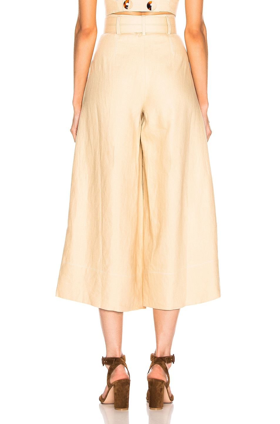 Image 4 of NICHOLAS Belted Wide Leg Pant in Champagne
