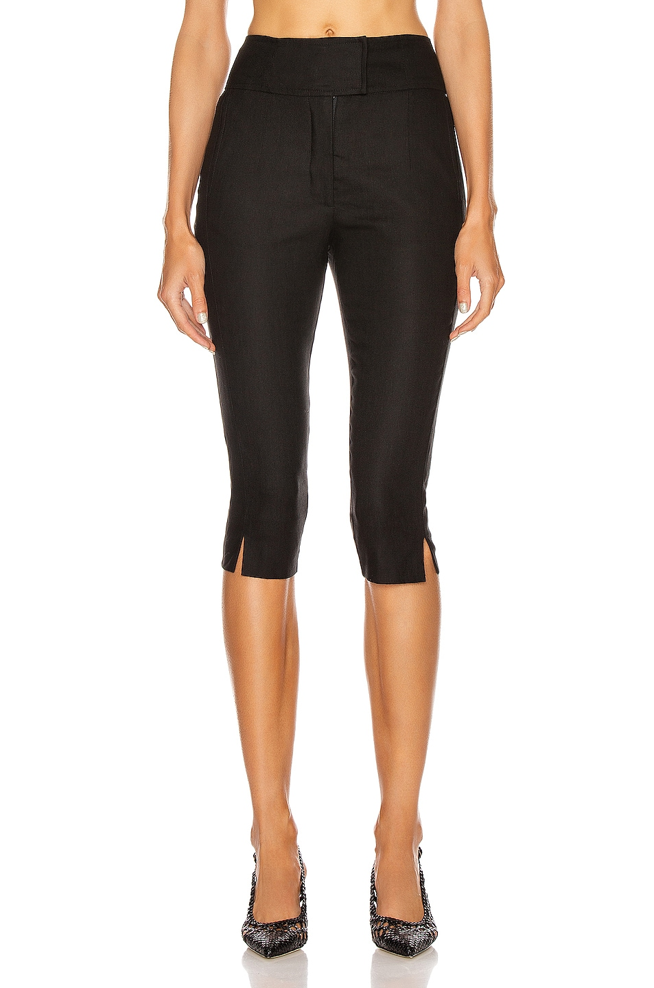 Image 1 of NICHOLAS Capri Pant in Black