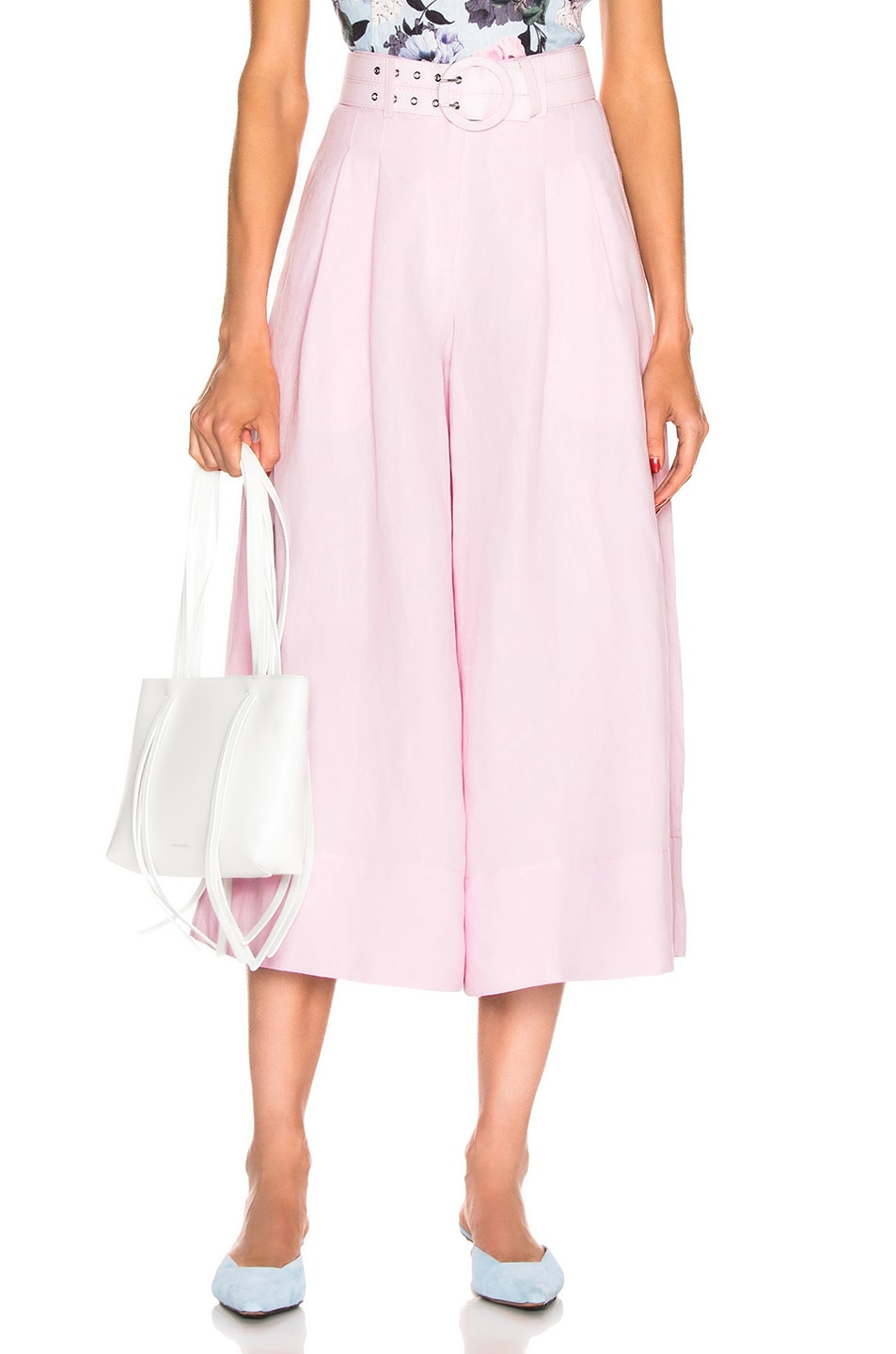 Image 1 of NICHOLAS Belted Wide Leg Pant in Light Pink