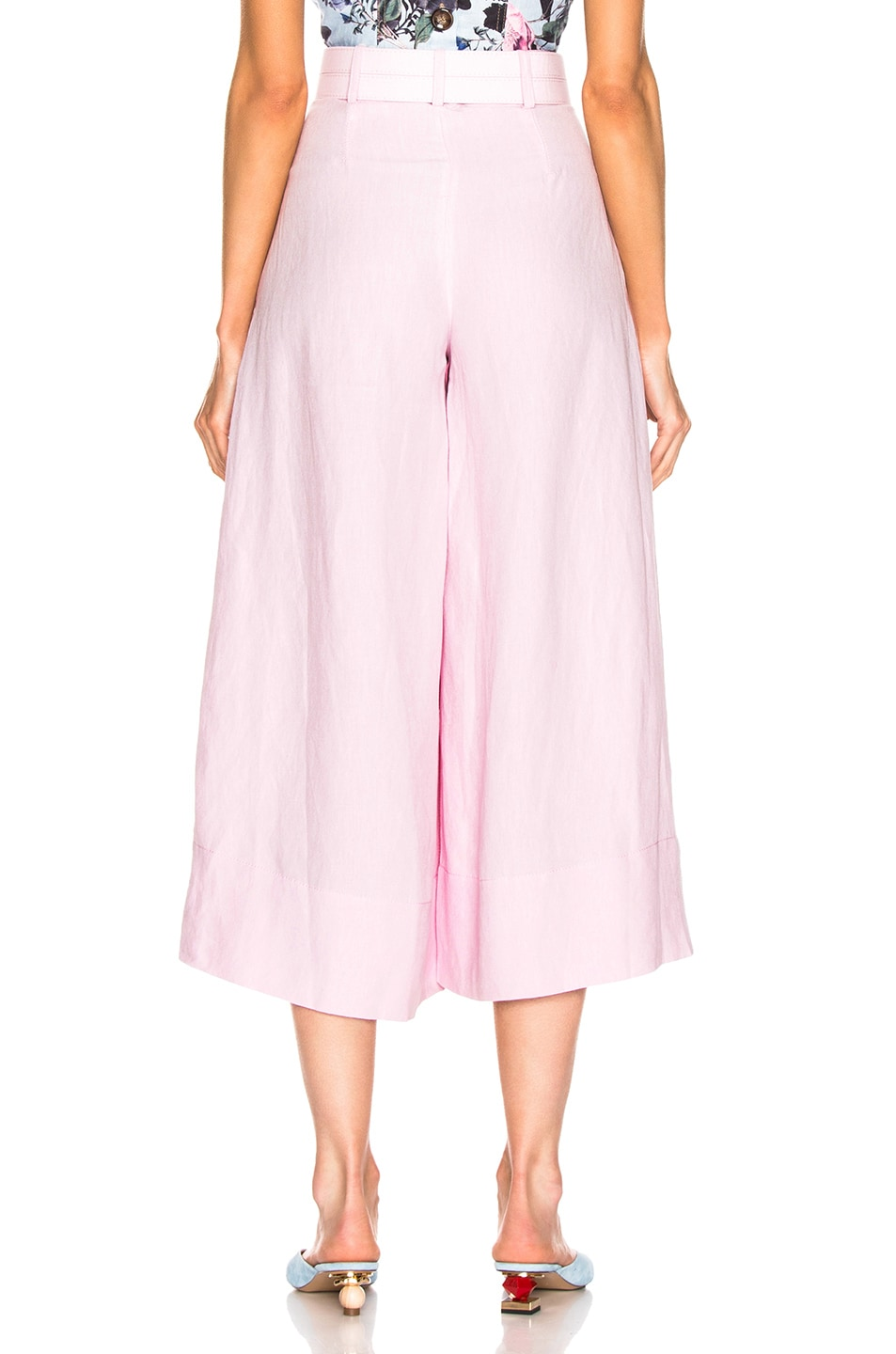 Image 3 of NICHOLAS Belted Wide Leg Pant in Light Pink