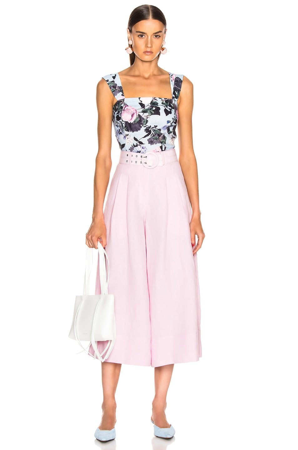 Image 4 of NICHOLAS Belted Wide Leg Pant in Light Pink