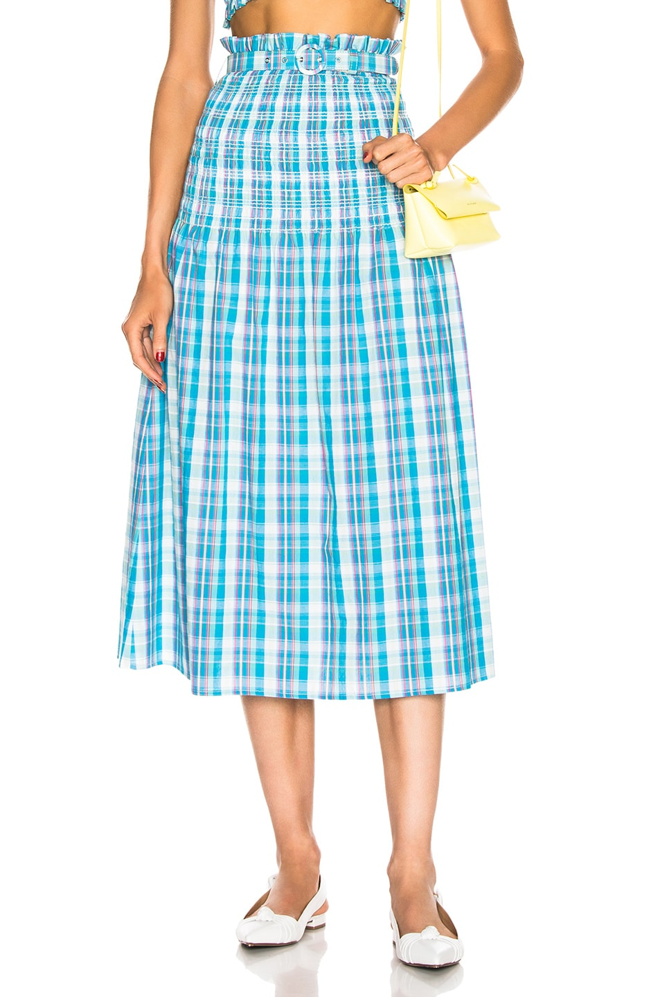 Image 1 of NICHOLAS Smocked Skirt in Turquoise Multi