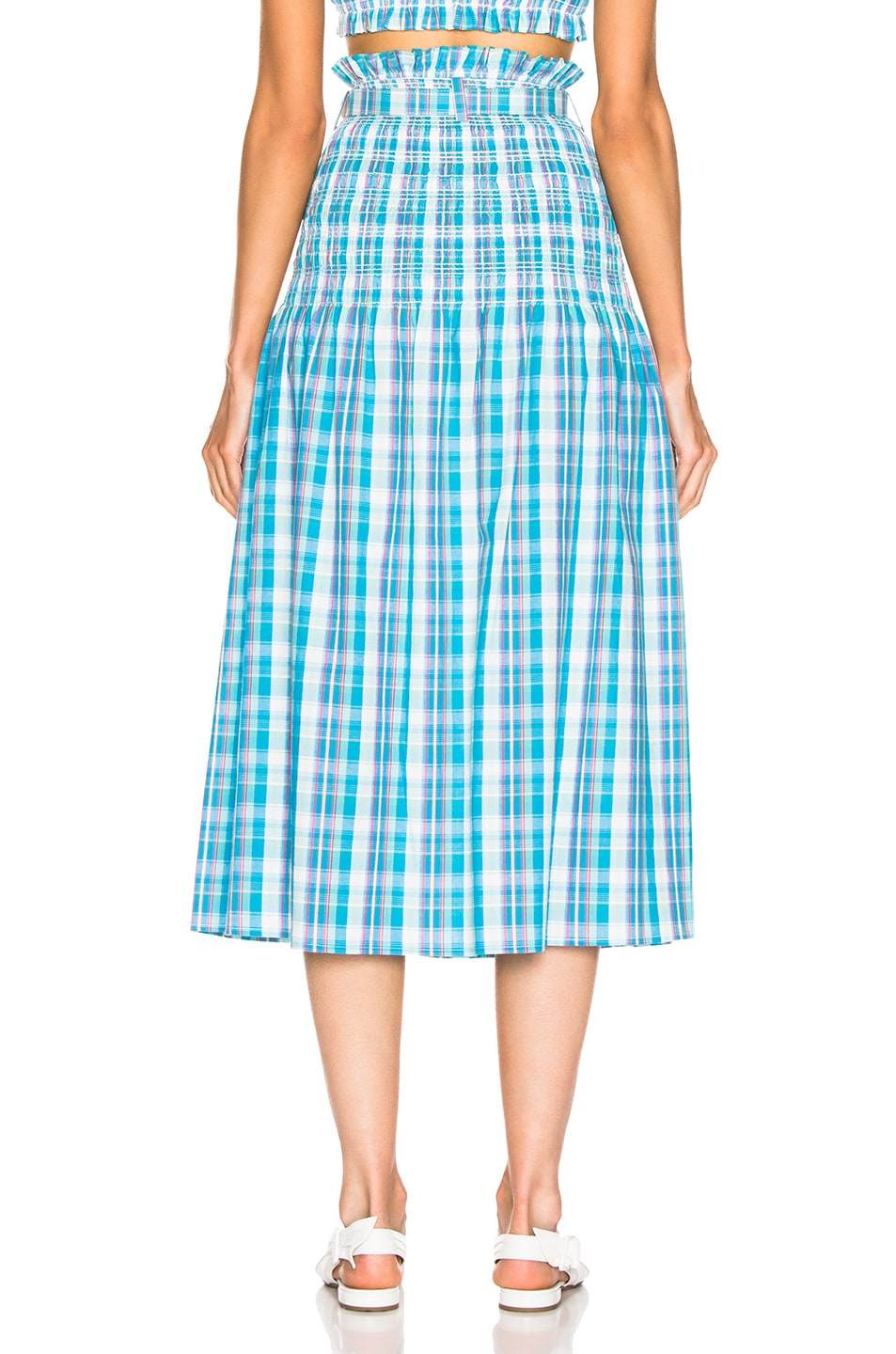 Image 3 of NICHOLAS Smocked Skirt in Turquoise Multi