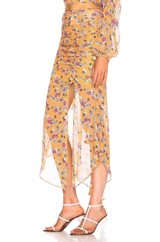 Image 3 of NICHOLAS Drawstring Skirt in Honey Multi