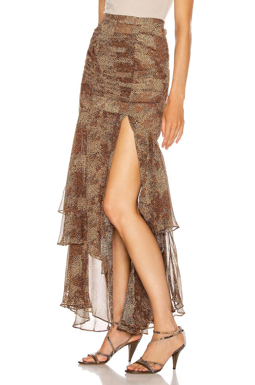 Image 3 of NICHOLAS Tuck Front Skirt in Tan Multi