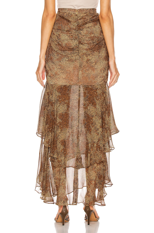 Image 4 of NICHOLAS Tuck Front Skirt in Tan Multi
