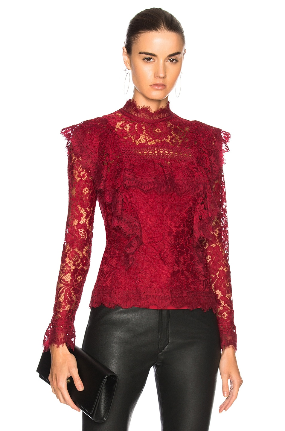 NICHOLAS Jasper Frill Top in Red
