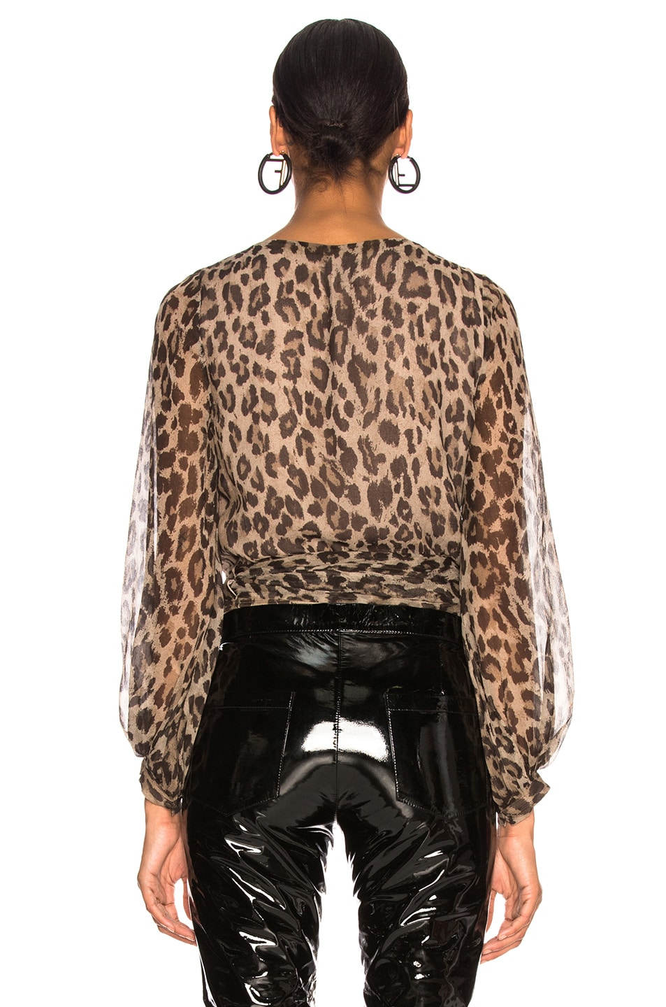 Image 3 of NICHOLAS Wrap Top in Leopard
