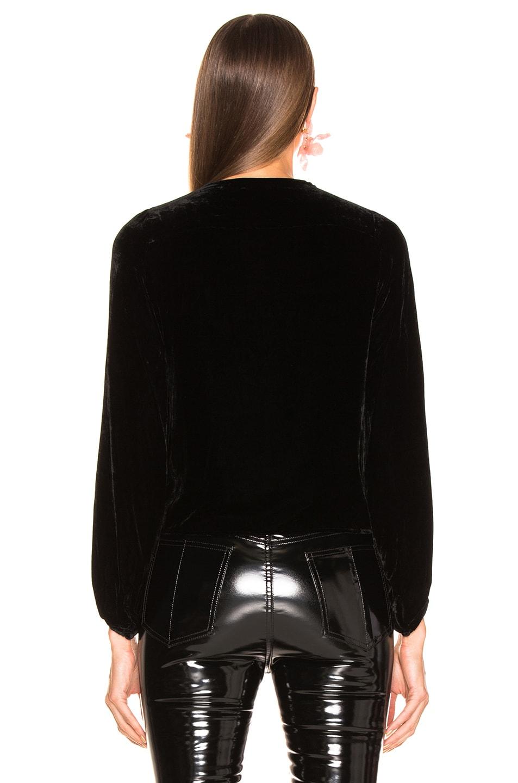Image 3 of NICHOLAS Velvet Tie Front Top in Black