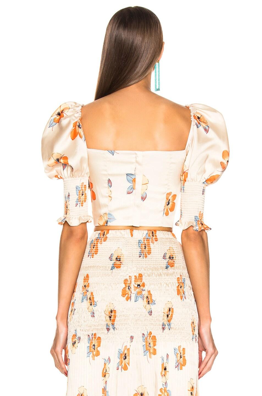 Image 4 of NICHOLAS Lace Up Bustier Top in Orange Multi