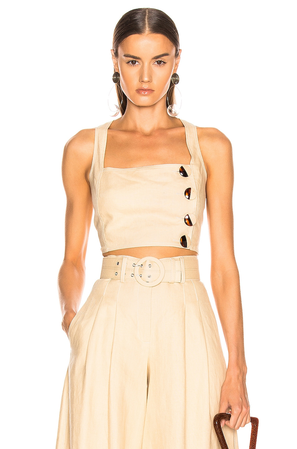 Image 1 of NICHOLAS Pinafore Top in Champagne