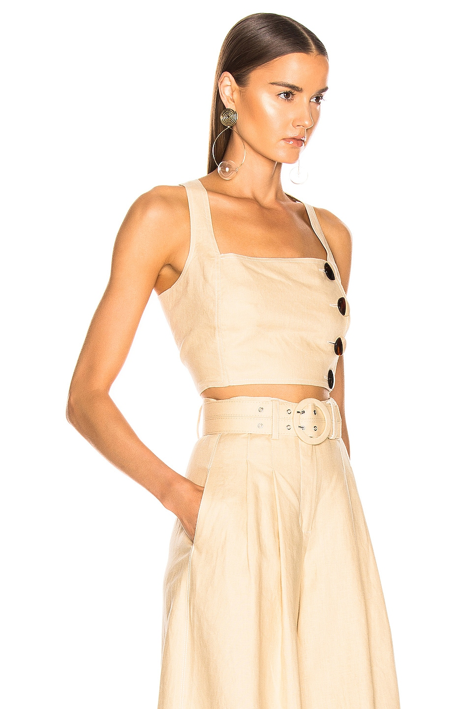 Image 2 of NICHOLAS Pinafore Top in Champagne