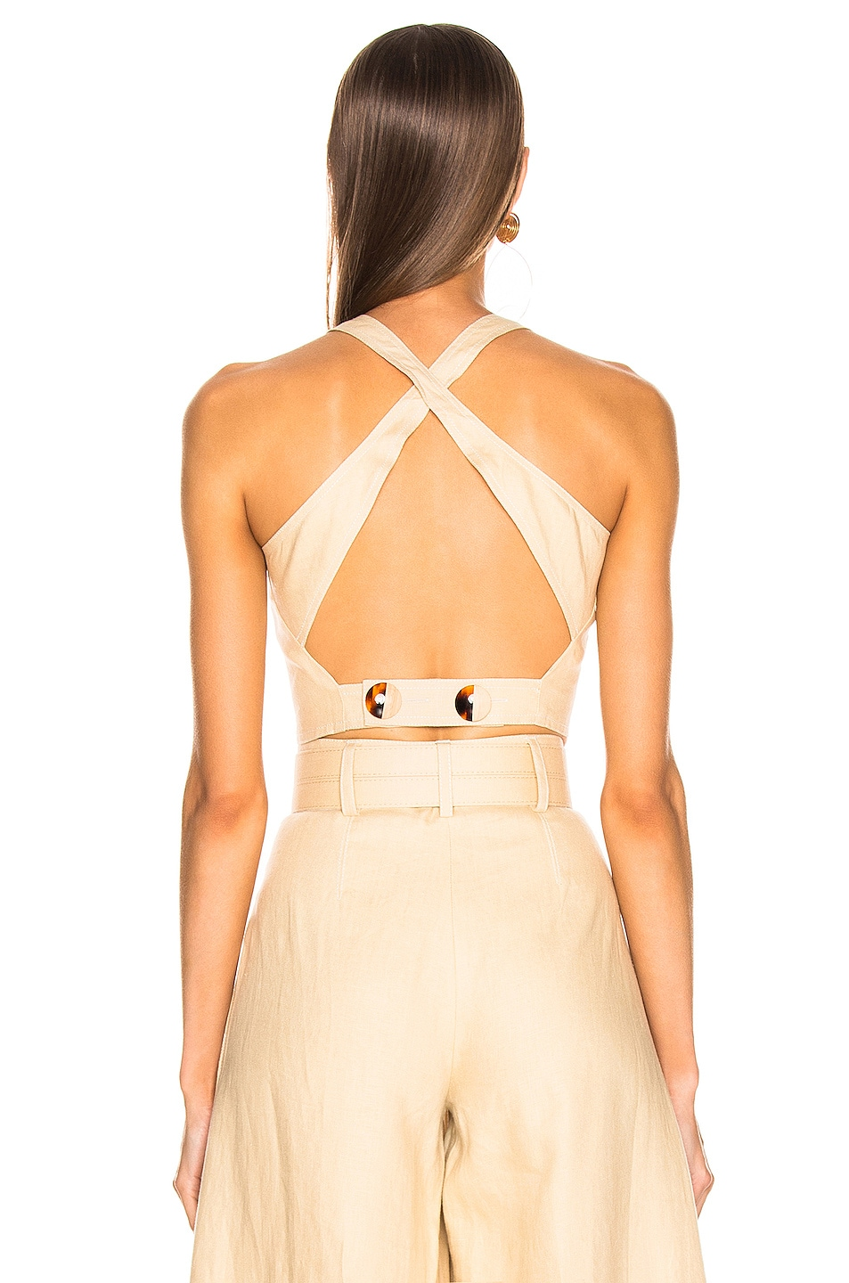 Image 4 of NICHOLAS Pinafore Top in Champagne