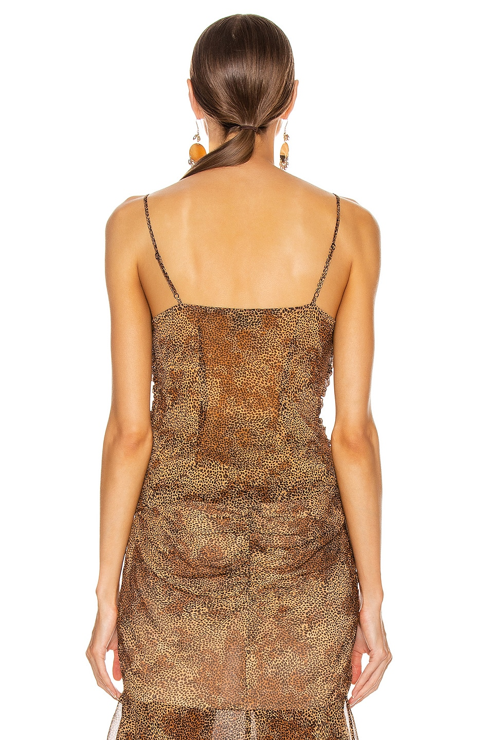 Image 3 of NICHOLAS Ruched Cami Top in Tan Multi