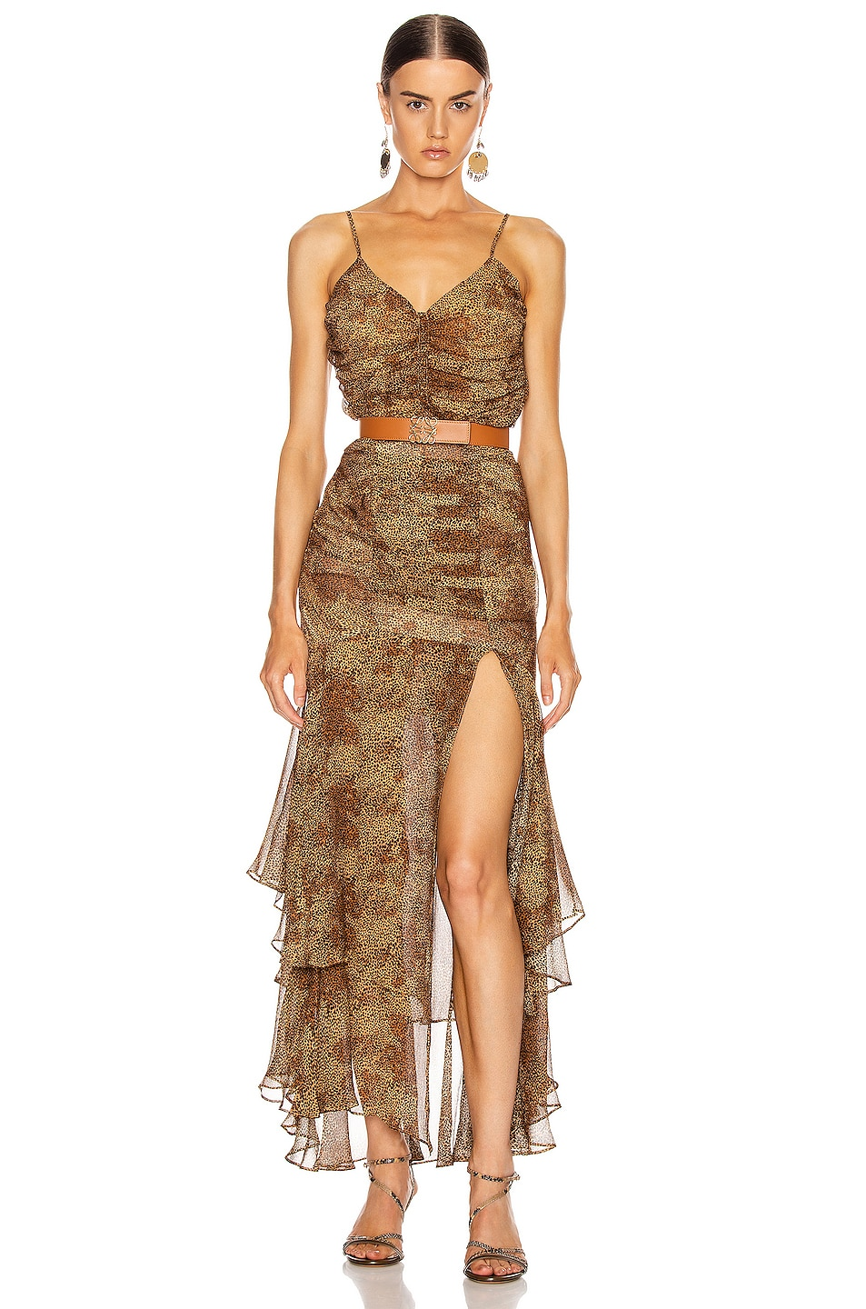 Image 4 of NICHOLAS Ruched Cami Top in Tan Multi