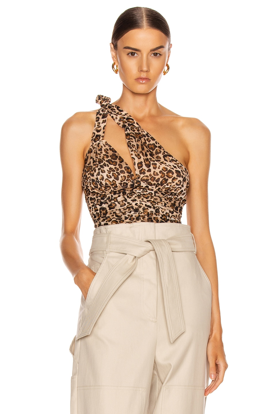Image 1 of NICHOLAS Knot Top in Leopard
