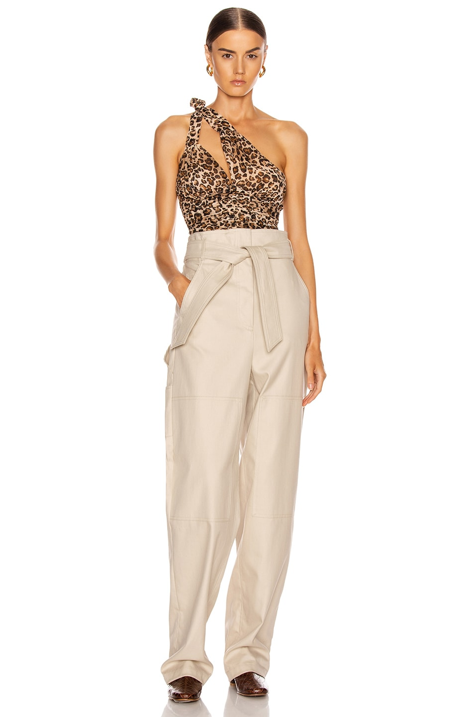 Image 4 of NICHOLAS Knot Top in Leopard