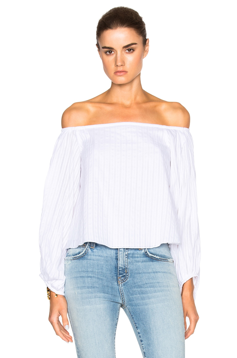 Image 1 of NICHOLAS Balloon Sleeve Top in White