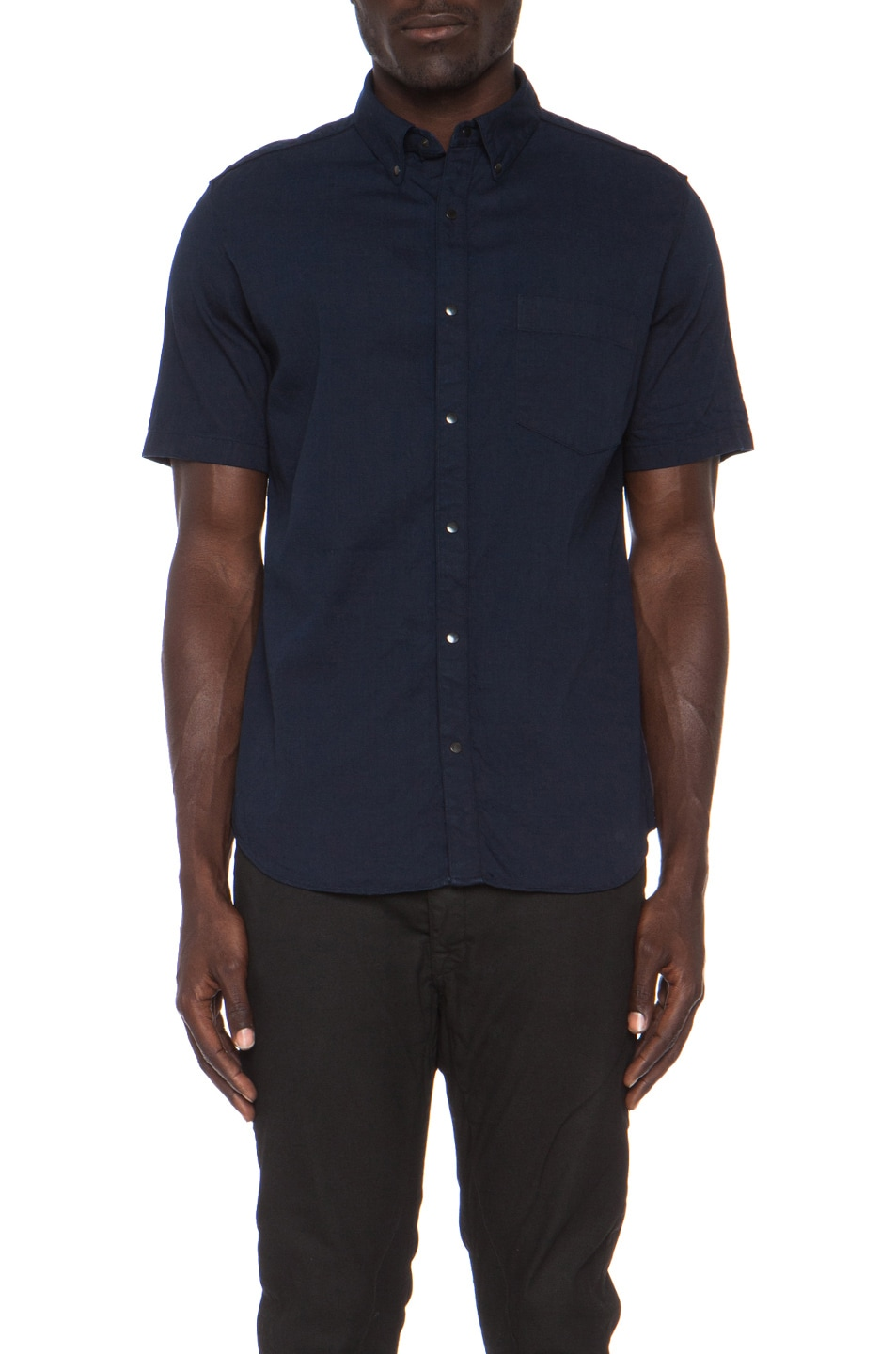 Image 1 of N.HOOLYWOOD Denim Buttondown in Navy