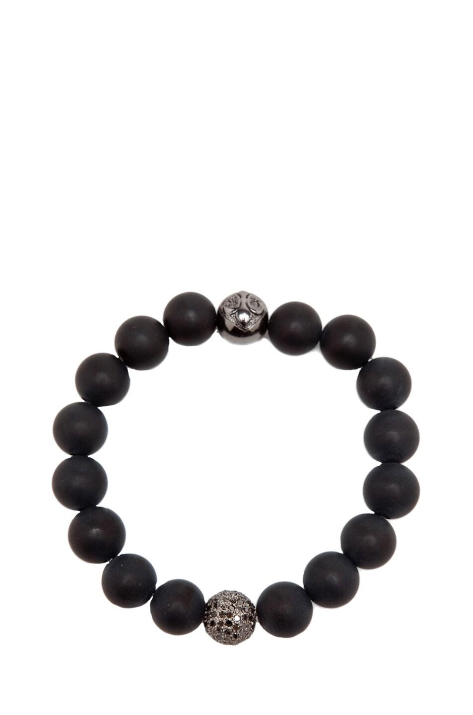 Image 1 of Nialaya Diamond Collection Ball Bracelet in Black