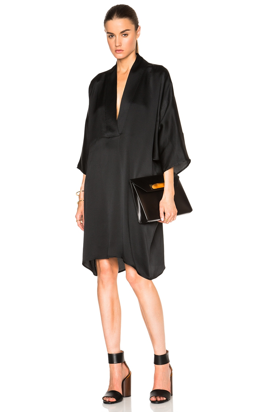 Image 1 of Nili Lotan Kimono Dress in Black