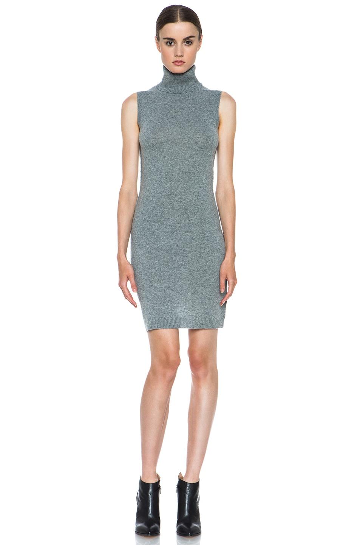 Image 1 of Nili Lotan Cashmere Turtleneck Dress in Pewter