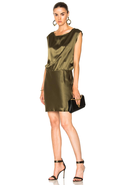 912b5f3f316a0 NILI LOTAN Eva Mini Dress in Olive Green | FWRD