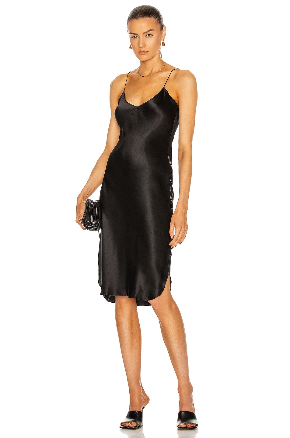 Image 1 of NILI LOTAN Short Cami Dress in Black