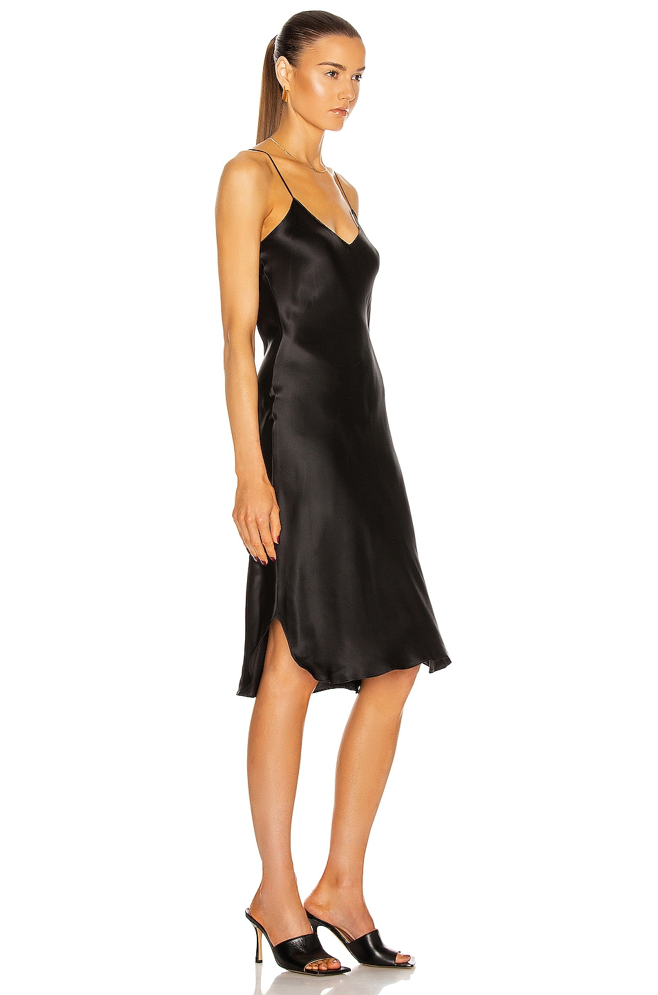 Image 2 of NILI LOTAN Short Cami Dress in Black