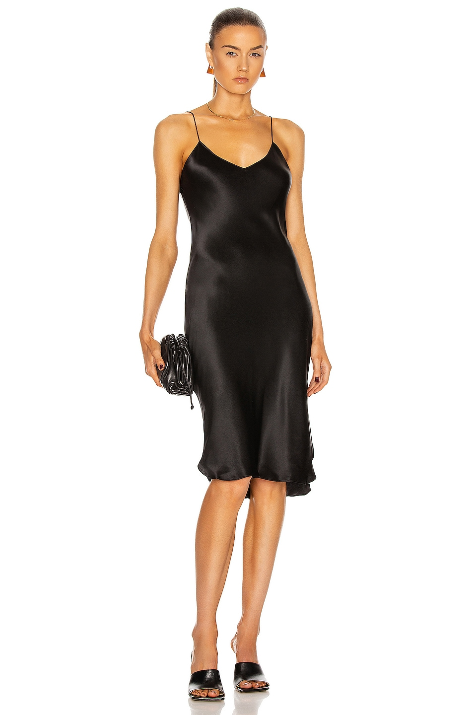Image 4 of NILI LOTAN Short Cami Dress in Black