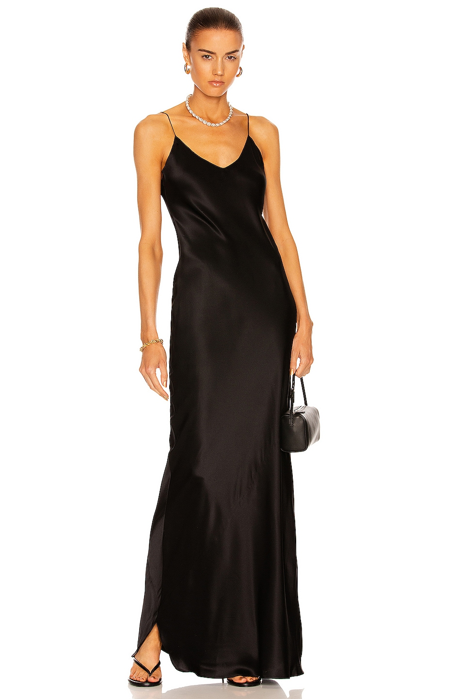 Image 1 of NILI LOTAN Cami Gown in Black