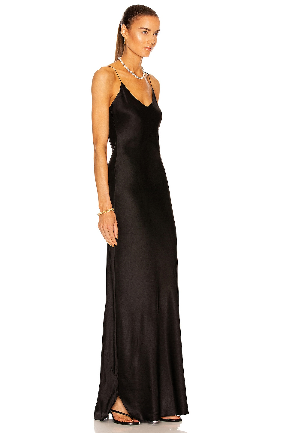 Image 2 of NILI LOTAN Cami Gown in Black
