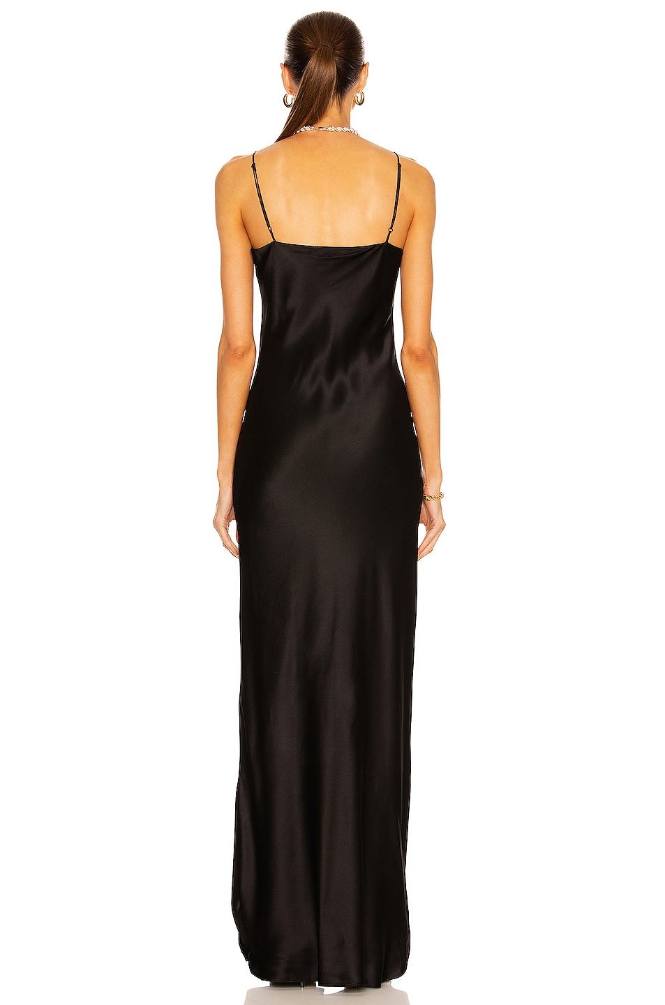Image 3 of NILI LOTAN Cami Gown in Black