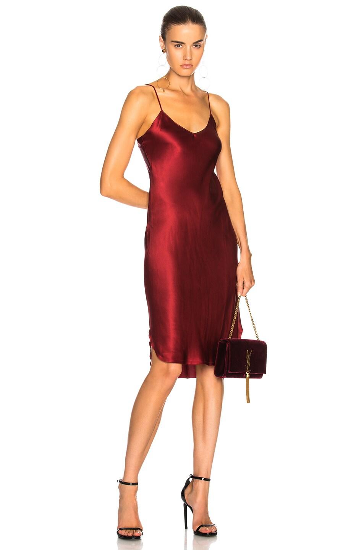 132eb3f76e11 Image 1 of NILI LOTAN Short Cami Dress in Crimson