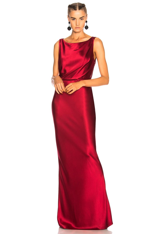 Nili Lotan Silks NILI LOTAN THERESE DRESS IN RED