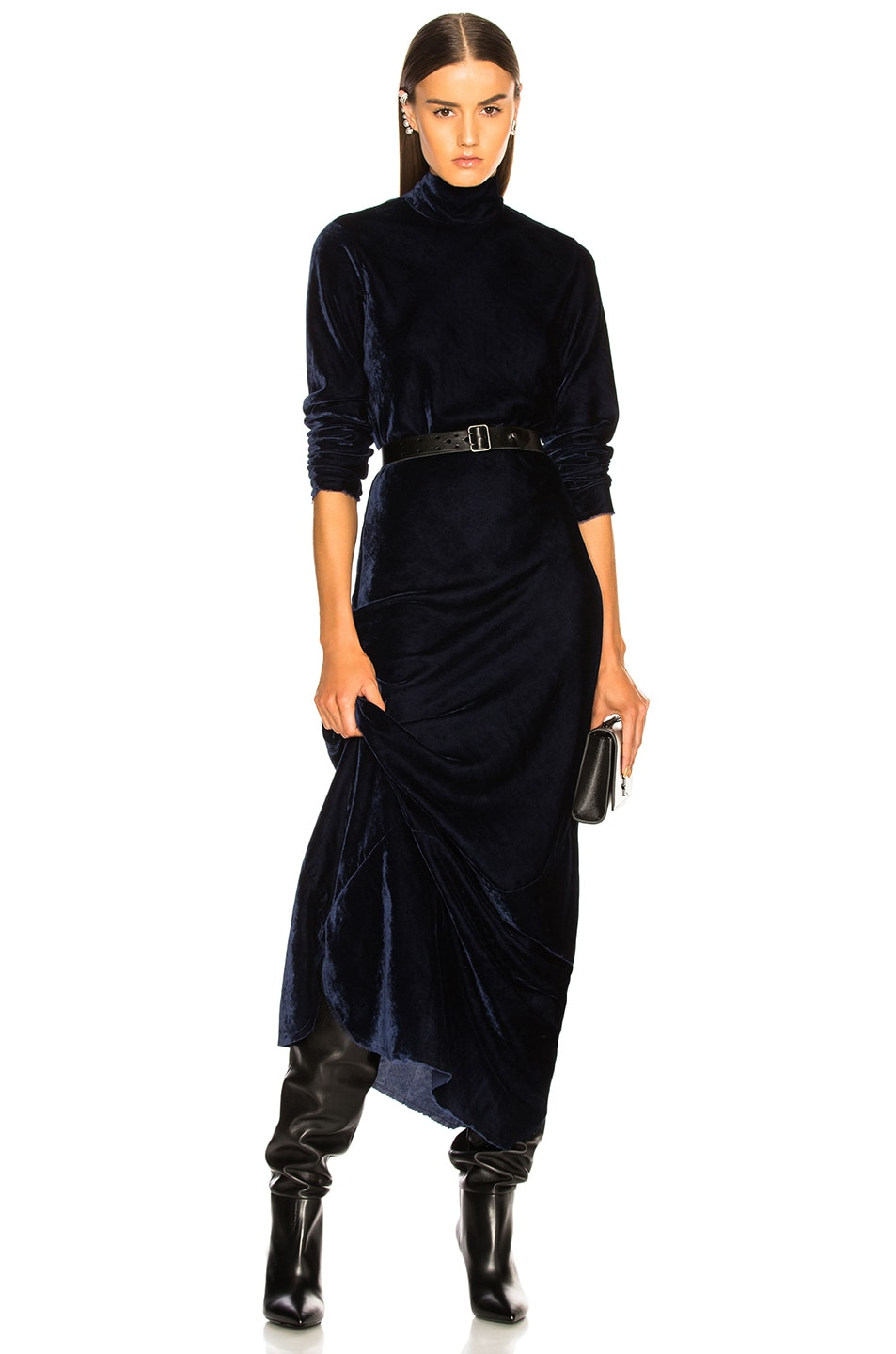 Image 1 of NILI LOTAN Genevieve Dress in Navy