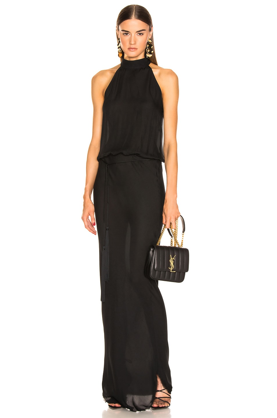 Image 1 of NILI LOTAN Alison Gown in Black