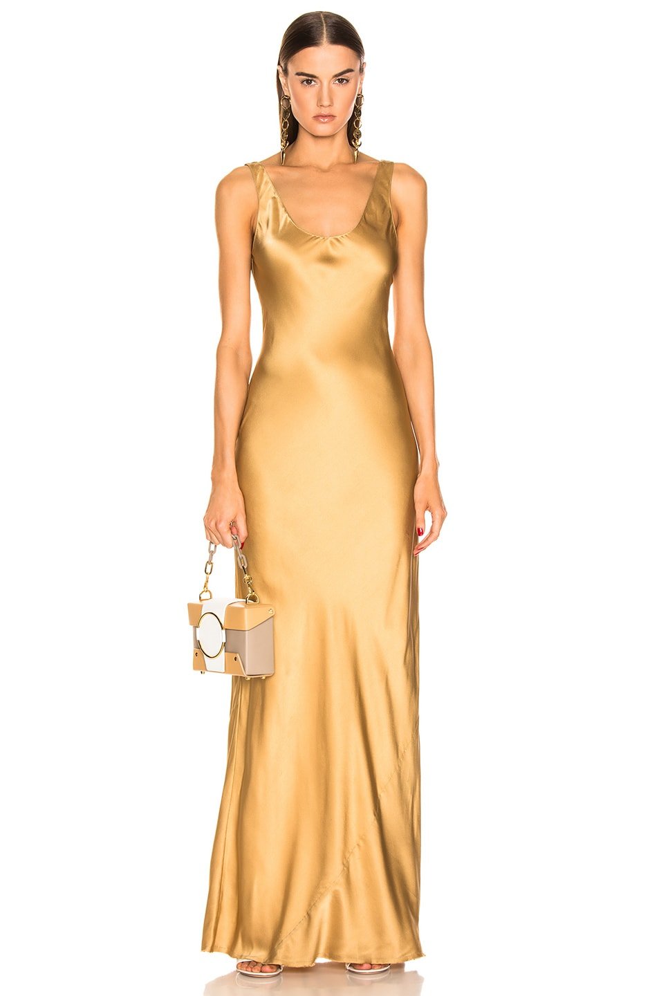 Image 1 of NILI LOTAN Bazile Gown in Golden