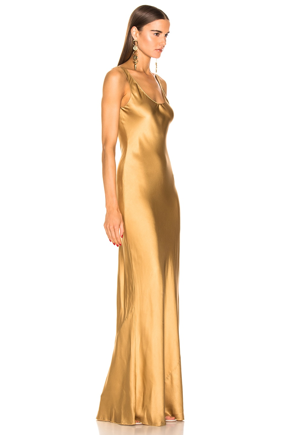 Image 2 of NILI LOTAN Bazile Gown in Golden