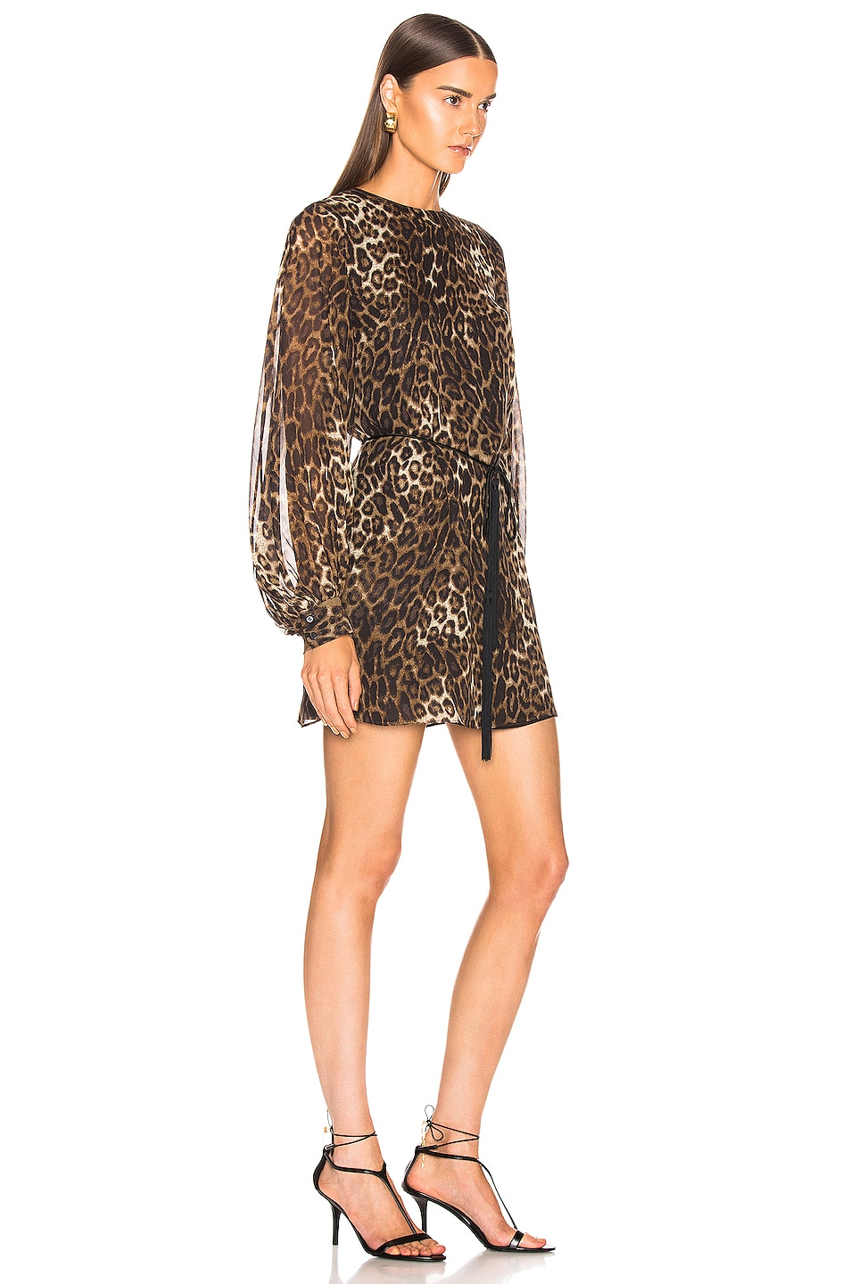 Image 2 of NILI LOTAN Rebeca Dress in Ginger Leopard Print