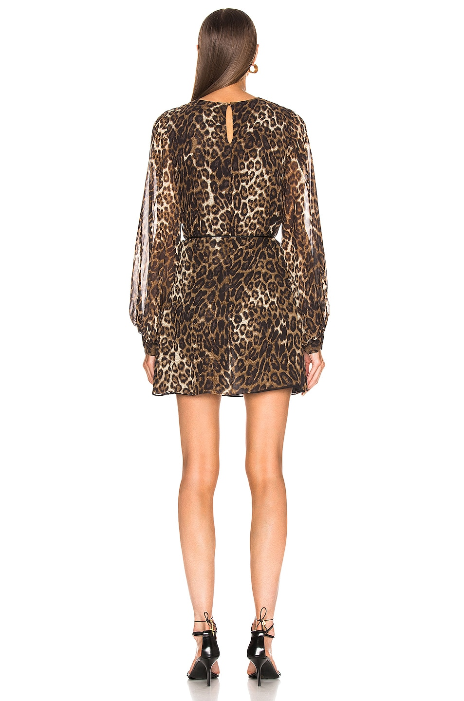 Image 3 of NILI LOTAN Rebeca Dress in Ginger Leopard Print