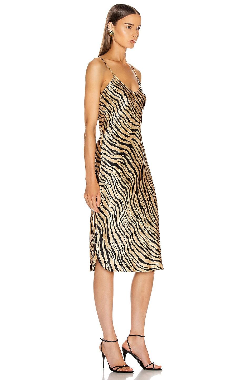 Image 2 of NILI LOTAN Short Cami Dress in Gold Tiger Print