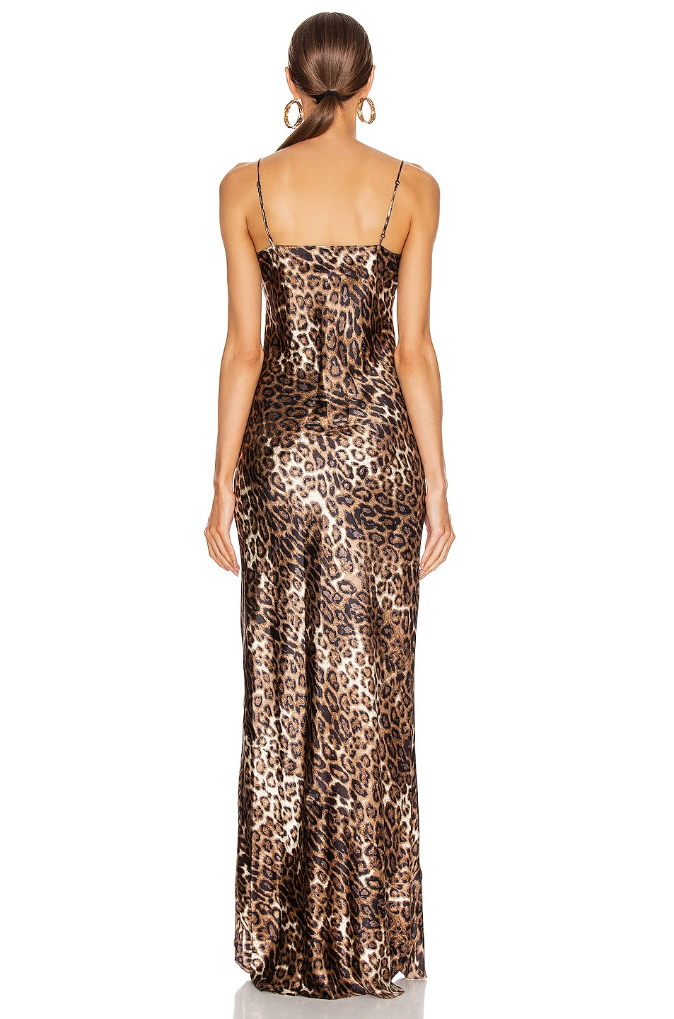 Image 3 of NILI LOTAN Cami Gown in Brown Leopard Print