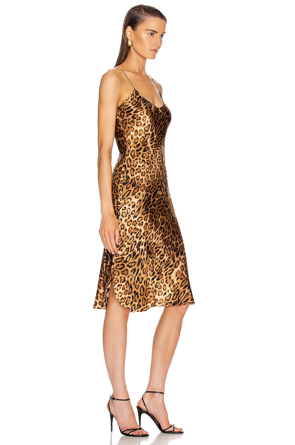 Image 2 of NILI LOTAN Short Cami Dress in Ginger Leopard Print