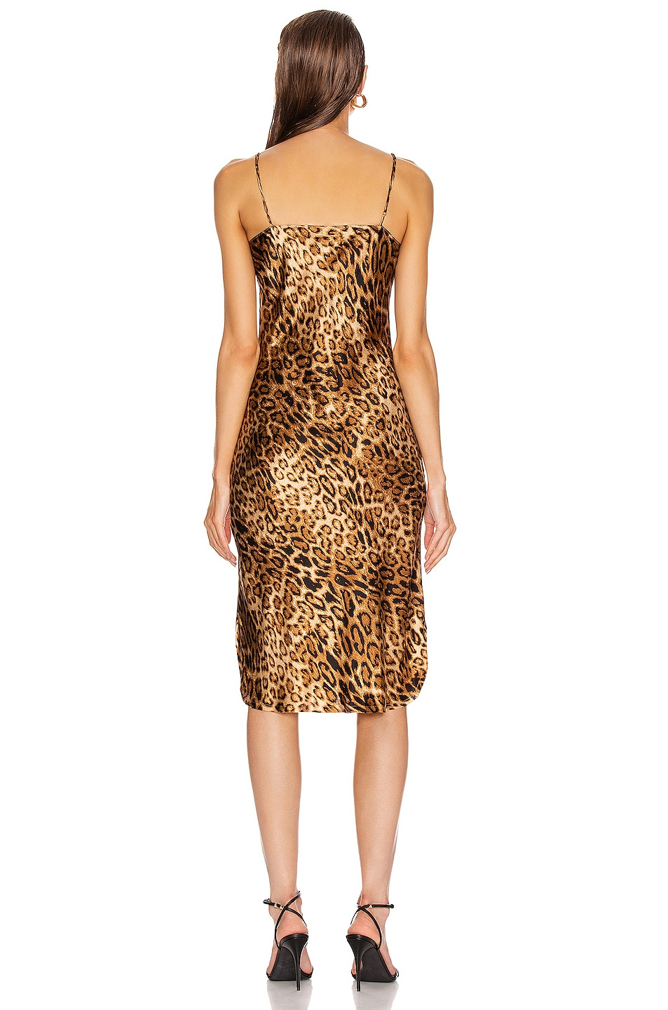 Image 3 of NILI LOTAN Short Cami Dress in Ginger Leopard Print