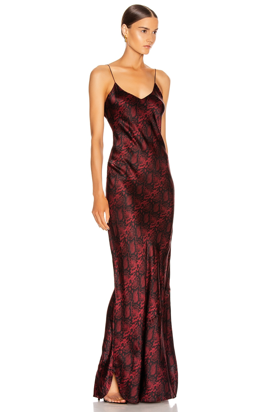 Image 2 of NILI LOTAN Cami Gown in Ruby Snake Print